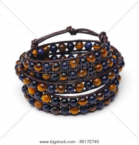 Handmade wrap bracelet