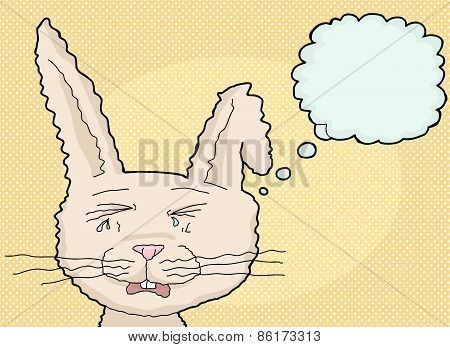 Sobbing Cartoon Rabbit