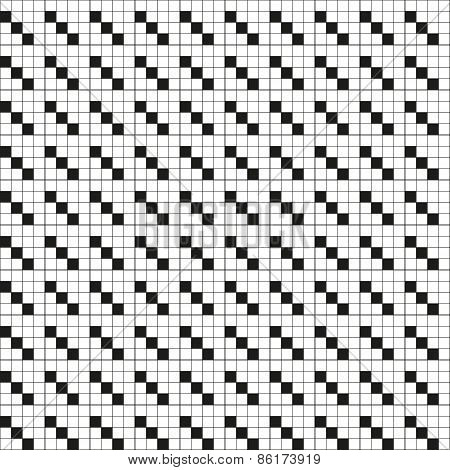 Abstract Squares Black And White Lines Technical Seamless Pattern Eps10