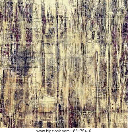Vintage spotted textured background. With different color patterns: yellow (beige); brown; gray