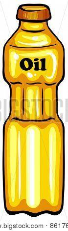 Close up bottle of vegetable oil