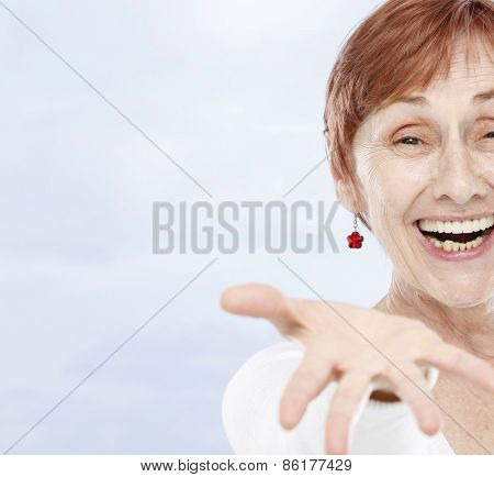 Sixty years woman face
