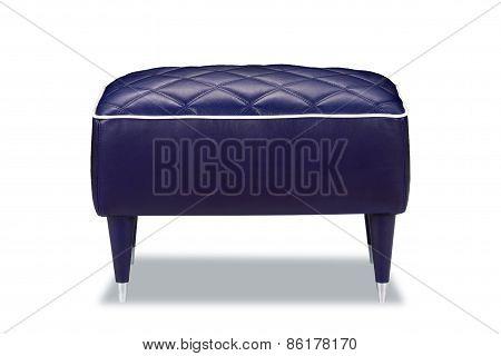 leather stool isolated on white background