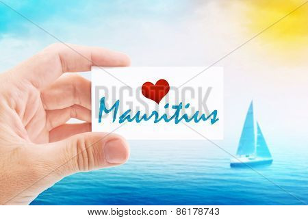 Summer Vacation On Mauritius Beach