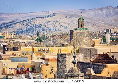 View Of Fez Medina