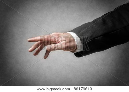 Closeup Gesture Of Businessman