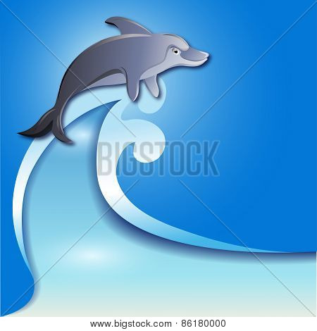 Dolphin On The Wave