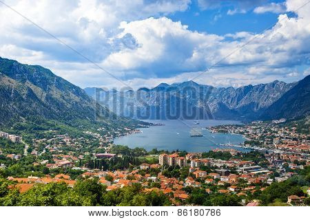 Kotor Bay On Adriatic Sea