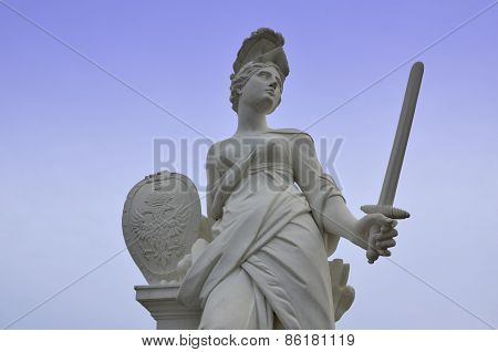 Roman goddess with the sword