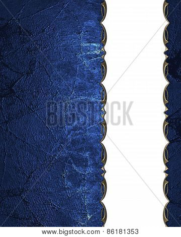 Grunge Blue Background With White Neckline