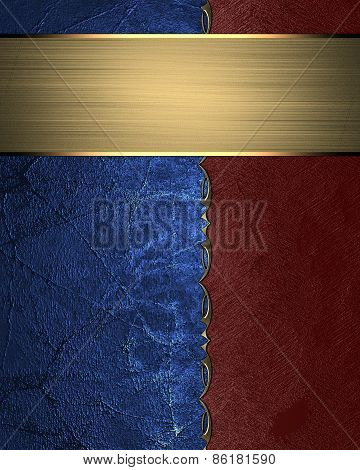 Abstract Template Of Red And Blue Texture
