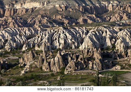 View On Evening Cappadocia Valley In Spring