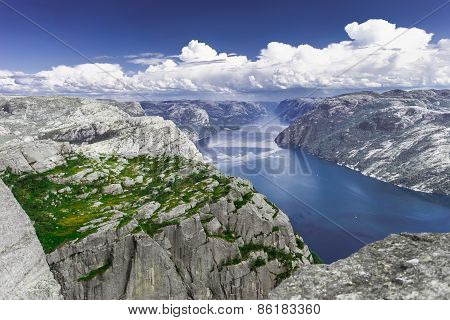 Trekking in Norwegian fiords