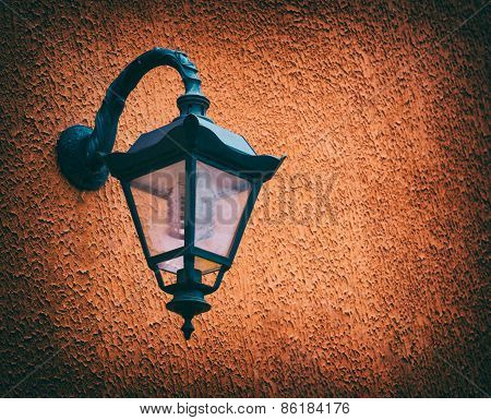 Old Street Lamp, Wall