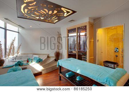 Massage and spa treatment room. Side, Turkey