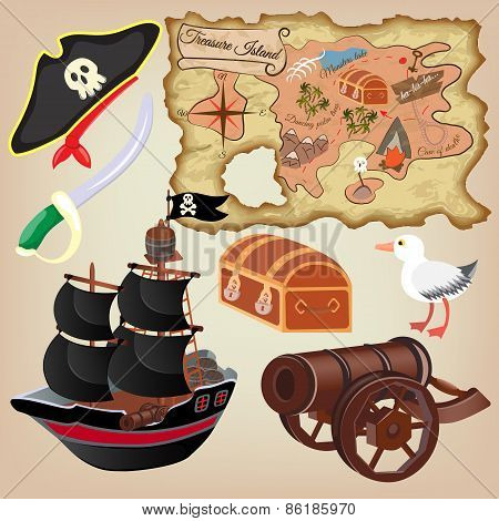 Set Of Pirate Attributes