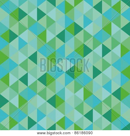 Abstract green triangles seamless background