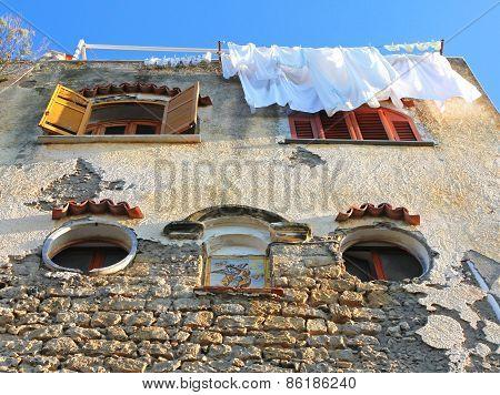 Italy. Campania Region. Procida Island. Mediterranean Stone House