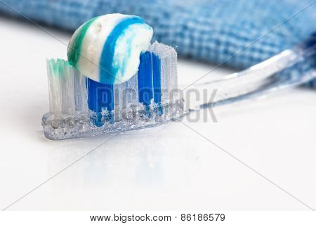 Toothbrush And Toothpaste, Towel, Water Spray.
