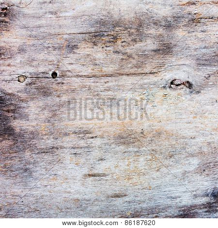 Creative Old Wooden Surface With Scratches, Cracks And Paint Residues, Perfect Background For Your C