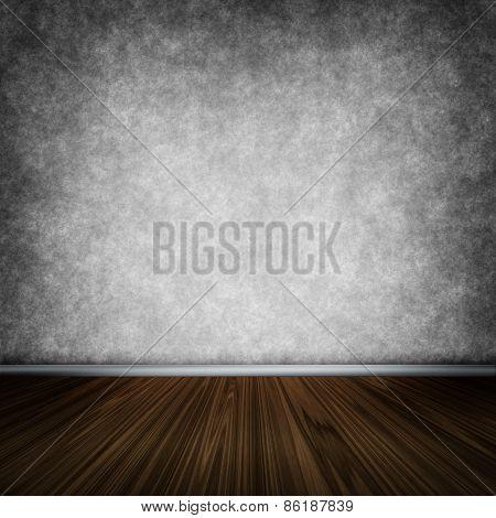 Dark Room With Wooden Floor