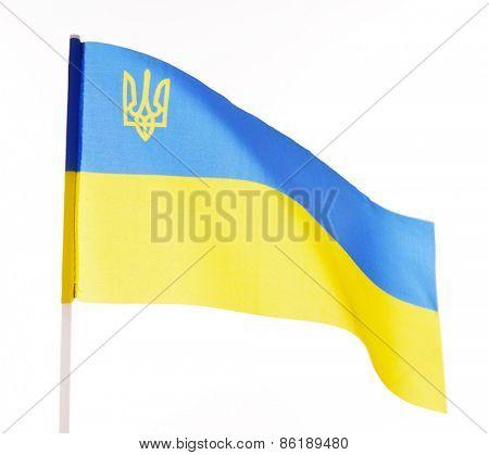 National flag of Ukraine isolated on white