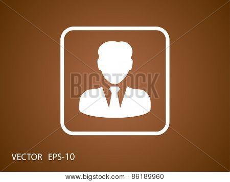 Flat icon of businessman