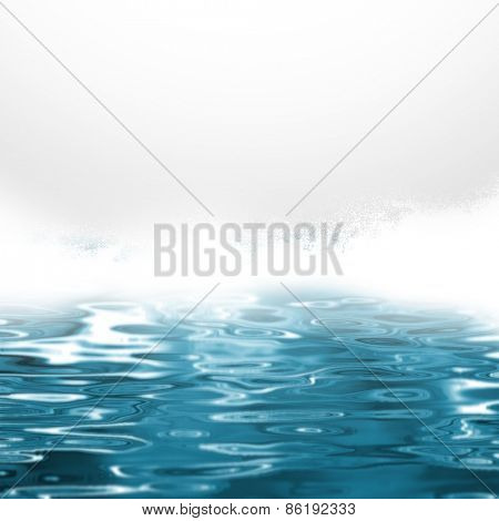 Sea spray - abstract blue water background