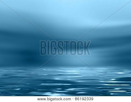 Horizon background blue