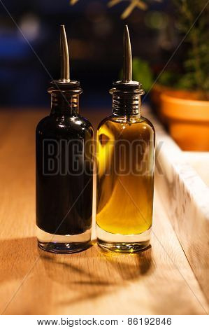 bottles of oil