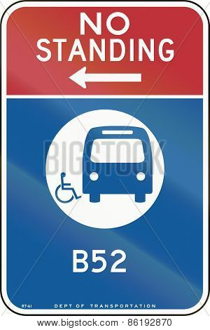 No Standing - Bus Stop