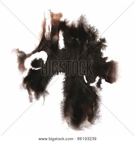 abstract hand black drawn  watercolor blot insult Rorschach psyc