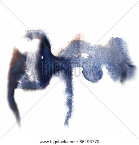 abstract hand purple, gray drawn watercolor blot insult Rorschac