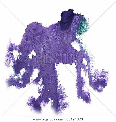 abstract light lilac hand drawn watercolor blot insult Rorschach