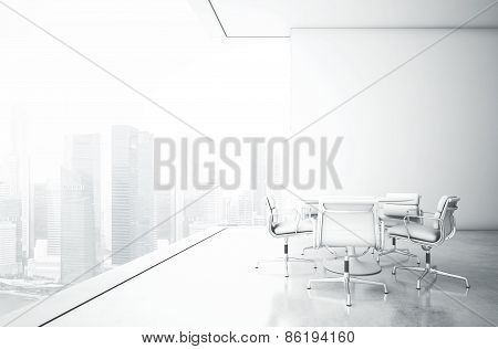 White Meeting Room With Panoramic View