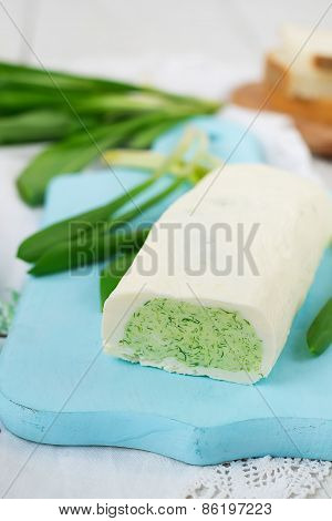Butter With Fresh Herbs And Garlic