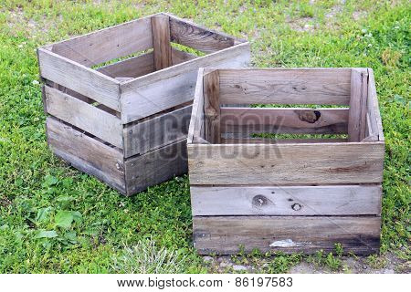 Old Rustic Wooden Crate