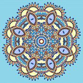 picture of indian blue  - mandala - JPG