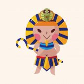 picture of pharaohs  - Pharaoh Theme Elements Vector - JPG