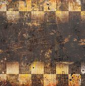 stock photo of chessboard  - grunge chessboard backgound with place for text - JPG