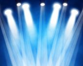 stock photo of stage decoration  - illustration of a blue stage spotlights background - JPG