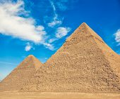 stock photo of the great pyramids  - The Great Pyramid of a Giza plato - JPG