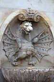 Dragon statue in Rome