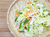 picture of soybean sprouts  - Bean Sprouts and fresh vegetable prepare for cooking