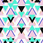 image of tripe  - Seamless abstract geometric triangle background pattern in vector - JPG