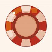 stock photo of poker machine  - Casino Roulette Theme Elements - JPG