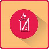 foto of beaker  - flat beaker icon - JPG