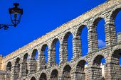 stock photo of aqueduct  - landmarks of Spain  - JPG