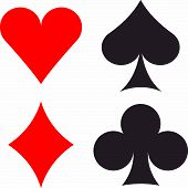 stock photo of spade  - Card suits hearts - JPG