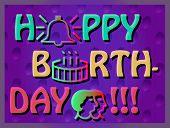 stock photo of birthday  - Colroful Birthday Card - JPG